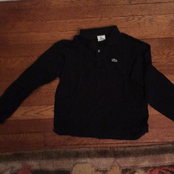 824bb76d7 Lacoste Shirts & Tops | Boys Black Ls Pique Polo In Size 12 | Poshmark